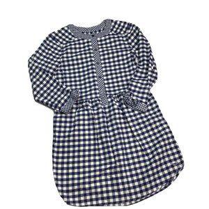 Vineyard Vines Mixed Gingham Flannel Shirt Dress